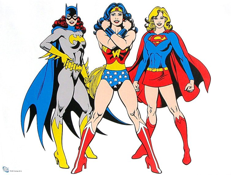 The original girl power - image courtesy of http://comicboxcommentary.blogspot.com/2012/08/more-jose-luis-garcia-lopez.html