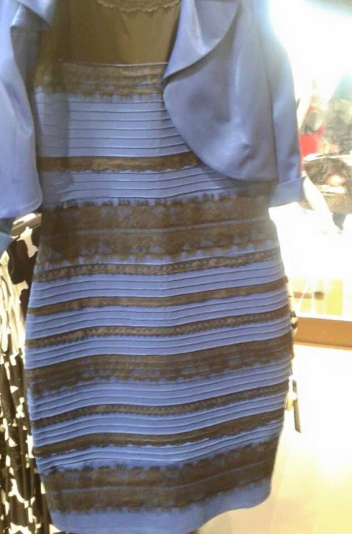 Black and blue dress, or white and gold?